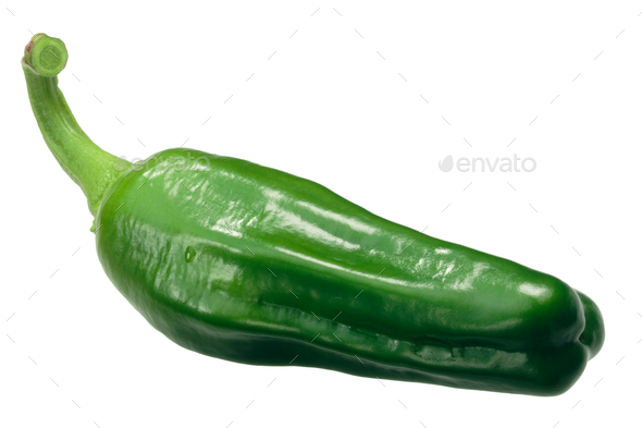 Padron pepper c. annuum, whole pod - Stock Photo - Images