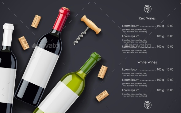 Wine Bottles and Cork Background - Backgrounds Decorative
