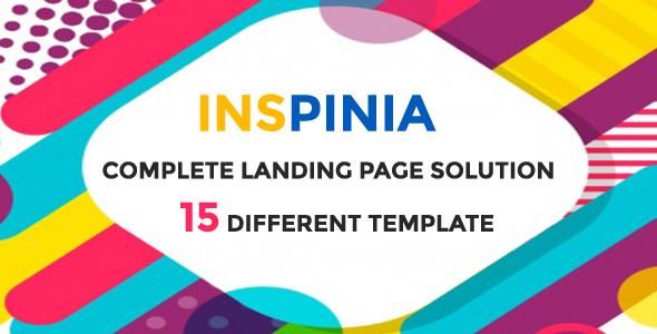Inspinia – 15 Different Complete Landing Page Solution