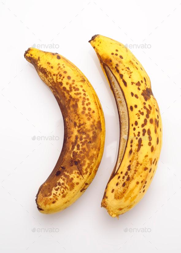 overripe bananas - Stock Photo - Images