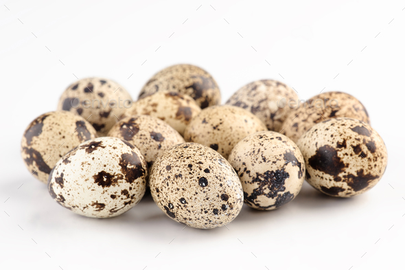 bowl of fresh quail eggs - Stock Photo - Images