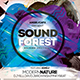Sound Forest II Photoshop Flyer Template