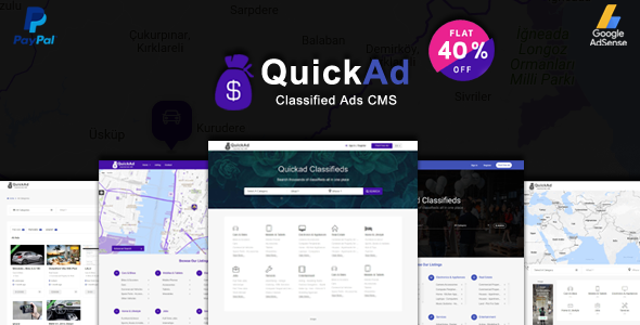 Classified Ads CMS - Quickad - CodeCanyon Item for Sale