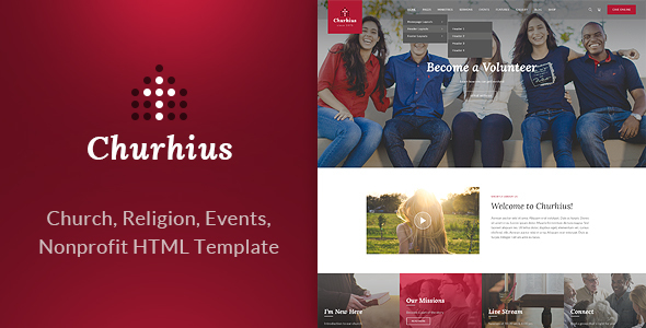 Image of Churhius - Religion HTML Website Template