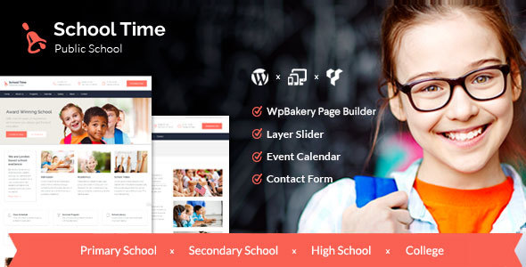 School Time - Modern Education WordPress Theme - Education WordPress