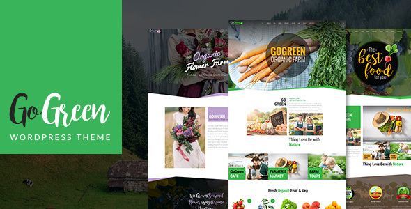 GoGreen: Organic Food, Farm, Market Business WordPress Theme