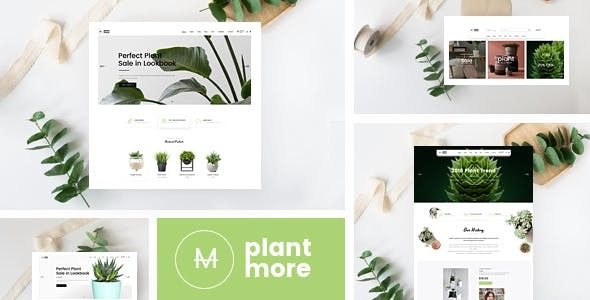 Plantmore - Responsive Bootstrap 4 eCommerce Template - Shopping Retail