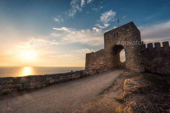 Cape Kaliakra in the morning - Stock Photo - Images