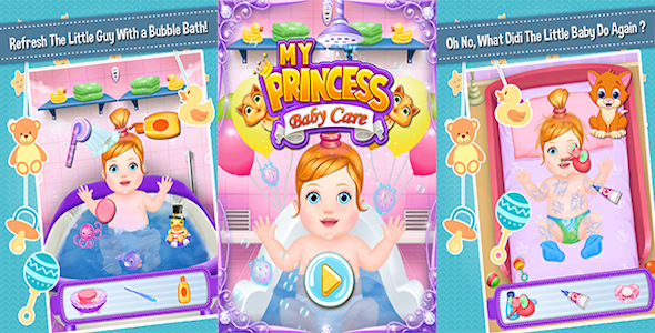 My Princess Baby Care + Best Kids Game + Education Game + (Admob + Android Studio)            Nulled