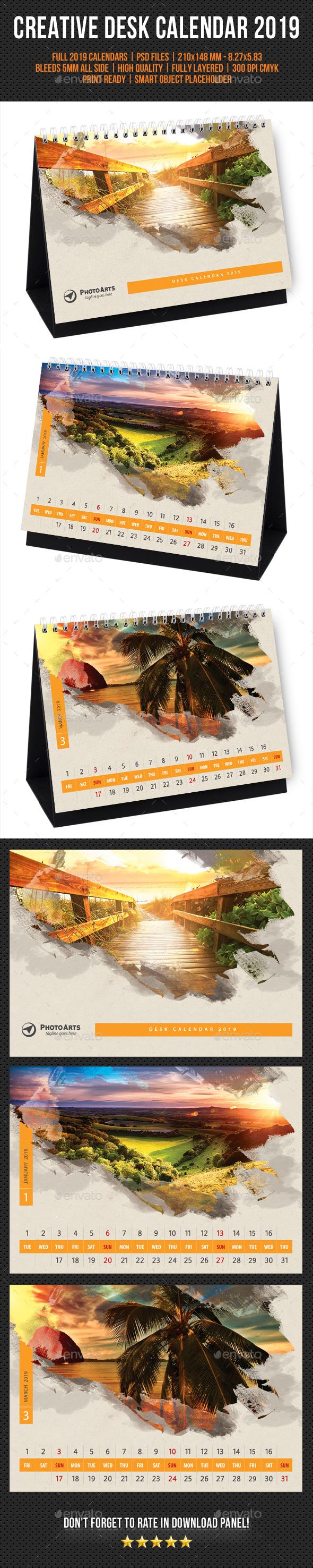 Creative Desk Calendar 2019 V23 - Calendars Stationery
