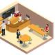 Isometric Coffee Shop Interior Concept