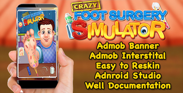 Crazy Foot Surgery Simulator + Best Kids Surgery Game + (Admob + Android Studio)            Nulled
