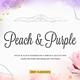 Peach & Purple Decor Collection - GraphicRiver Item for Sale