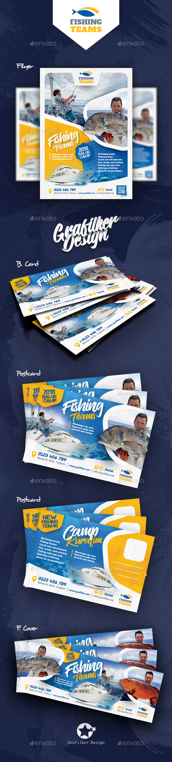 Fishing Bundle Templates - Corporate Flyers