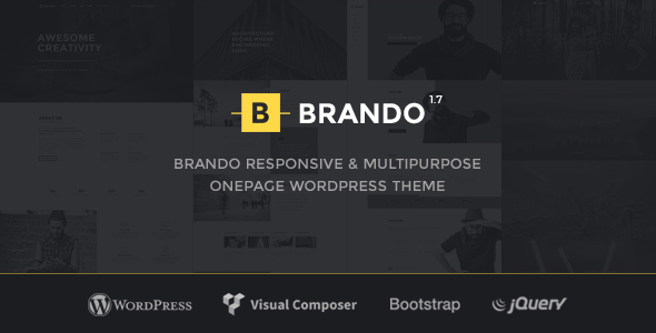 Brando Responsive and Multipurpose OnePage WordPress Theme