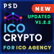 ICO Crypto – Bitcoin and Cryptocurrency Landing Page PSD Template - ThemeForest Item for Sale