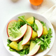 Fruit vegetable salad with red apples, avocado, orange slices - PhotoDune Item for Sale
