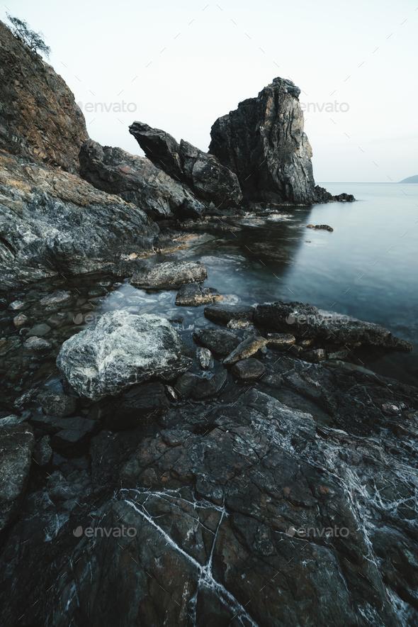 Amazing Mediterranean seascape in Turkey - Stock Photo - Images