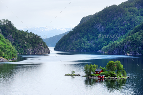 Breathtaking view of small island - Stock Photo - Images
