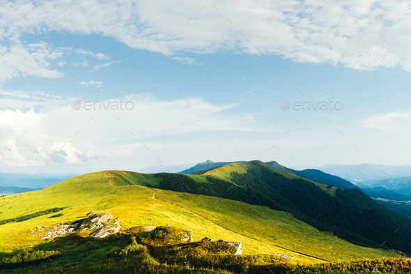 View of the stony hills - Stock Photo - Images
