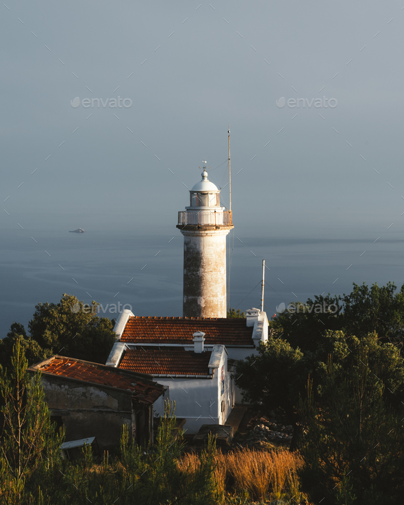 Lighthouse on Gelidonya cape - Stock Photo - Images