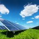 Solar panel on blue sky background - PhotoDune Item for Sale
