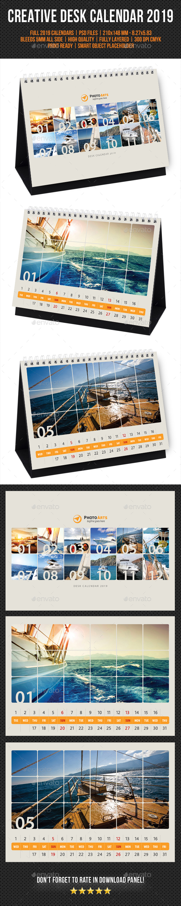 Creative Desk Calendar 2019 V28 - Calendars Stationery