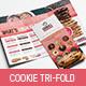 Cookie Shop Tri-Fold Menu