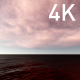 Pink Evening Cirrus Clouds over the Dark Ocean - VideoHive Item for Sale