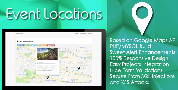 Event Locations - PHP/MYSQL Plugin            Nulled