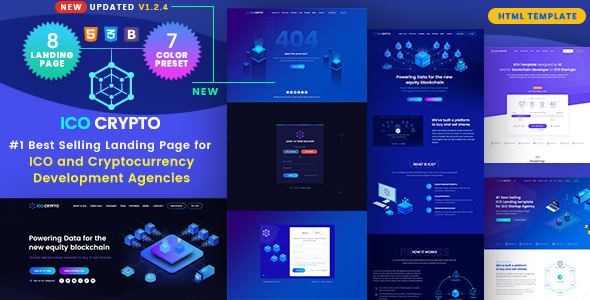 Image of ICO Crypto - Bitcoin & Cryptocurrency Landing Page HTML Template