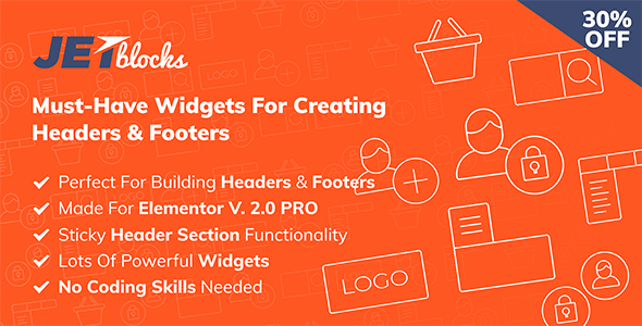 JetBlocks -  the must-have headers & footers widgets for Elementor - CodeCanyon Item for Sale