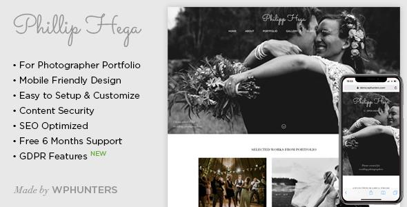 PH - Responsive Wedding Photography WordPress Theme | Prosyscom Tech 1