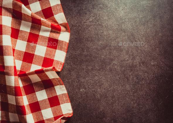 napkin on black - Stock Photo - Images