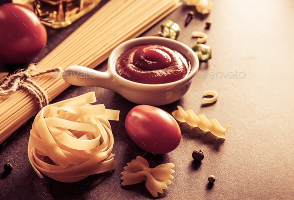 pasta and food ingredient - Stock Photo - Images