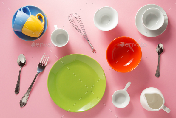 kitchenware at abstract background - Stock Photo - Images
