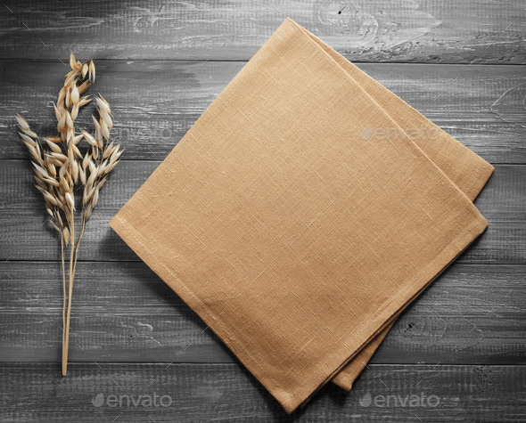 ears of oat on wood - Stock Photo - Images