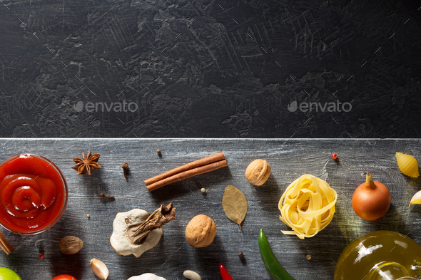 spice and herb on table - Stock Photo - Images