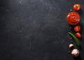 tomato sauce on black background - PhotoDune Item for Sale