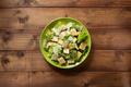 caesar salad in plate at wood - PhotoDune Item for Sale