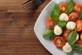 caprese salad in plate at wood - PhotoDune Item for Sale