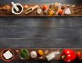 spice, herbs and food ingredients on wood - PhotoDune Item for Sale