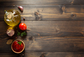 tomato sauce in bowl on wood - PhotoDune Item for Sale