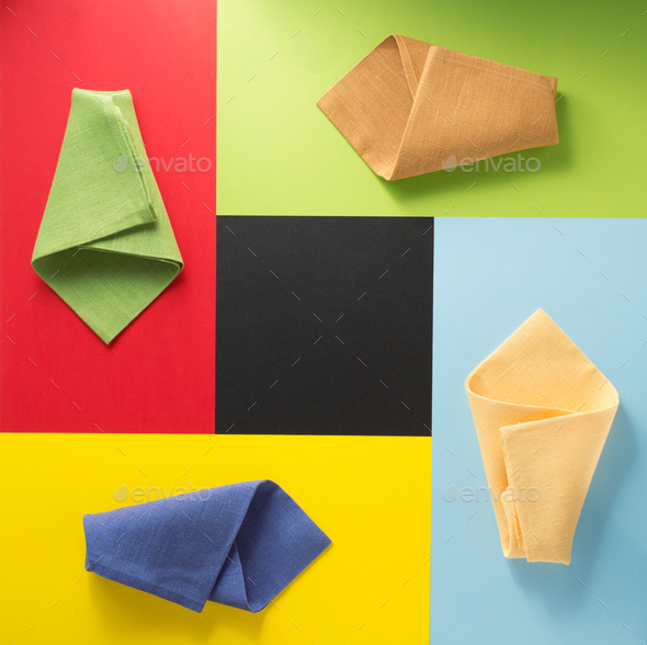 folded napkin at abstract  background - Stock Photo - Images