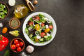 fresh greek salad in plate and ingredients - PhotoDune Item for Sale