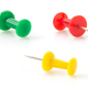 pushpin on white background - PhotoDune Item for Sale