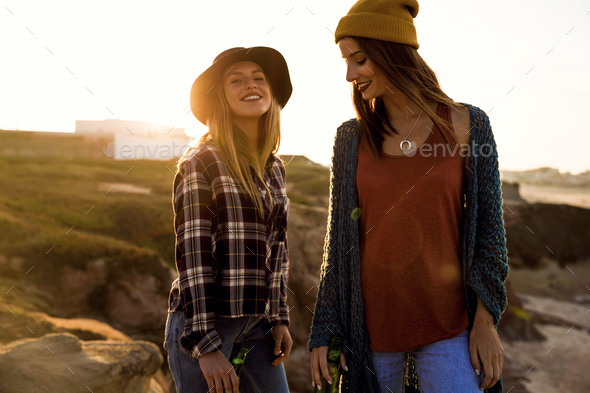 Girls having fun - Stock Photo - Images