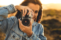 Woman Taking Picture Outdoors - PhotoDune Item for Sale