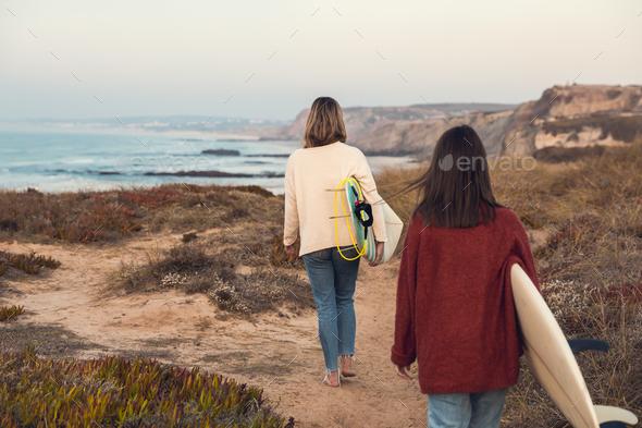 Surfer girls - Stock Photo - Images