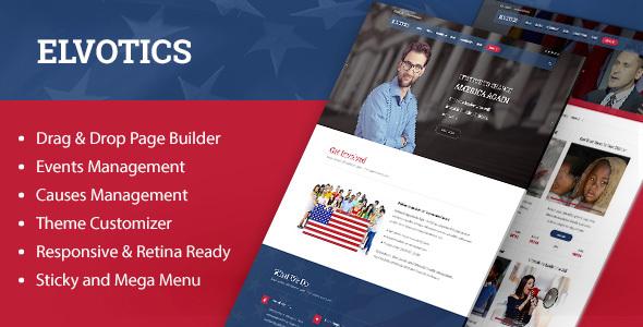 Image of Elvotics - Political WordPress Theme